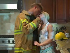 This hunky fire fighter burns for Ash Hollywood