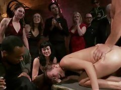 Princess Donna watches as this babe is humiliated
