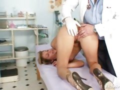 Kira speculum vagina examination by old kinky doctor