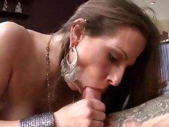Sizzling Rachel Roxx slurps on this throbbing cock