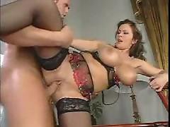 Lingerie girl with big titties boned