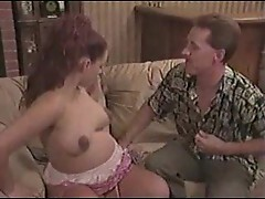 Pregnant girl sucks him before sitting on dick