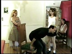Young schoolgirls must be spanked hard