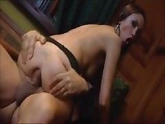 Stockings girl has her asshole opened up