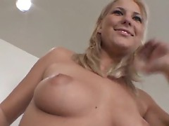Tasty girl rammed in the ass on the comforter