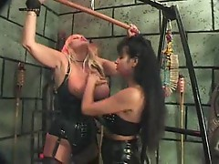 Lesbian femdom in the dungeon is sexy