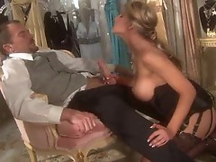Glamorous girl in great lingerie fucked