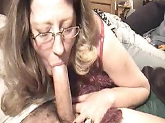 She can never get enough cock to deepthroat
