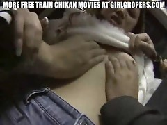 Asian fondled roughly on public train