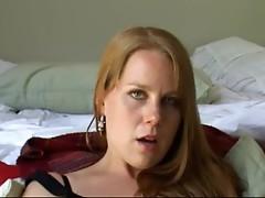 Redhead masturbating on camera