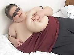 Gigantic tits on a fat chick