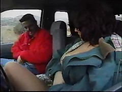 Girl in pantyhose fucked in a car