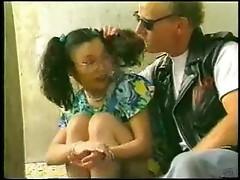 Black girl done in DP by multiple dicks