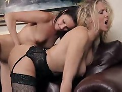 Young ladies have lesbian sex with milfs