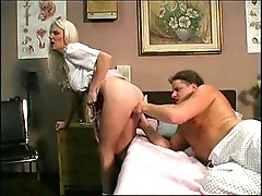 He fucks her wet blonde asshole deep