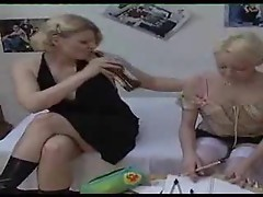Young blonde is seduced by her aunt