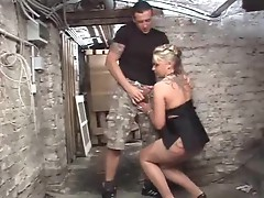 Down in the basement fucking a German slut