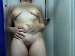 Soft solo mom taking a shower