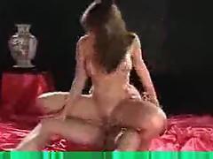 Busty brunette slut loves the dick meat