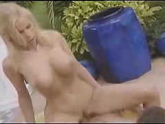 Poolside fuck with a great blonde bimbo