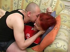 Russian mom is a horny redhead