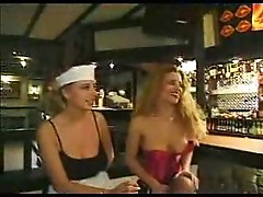 Girls having group sex in restaurant