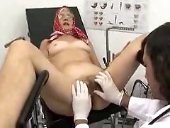 Granny with hairy cunt fucked by her doctor