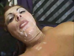 Messy cumshots are thick on pretty faces