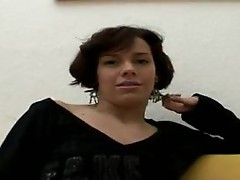 Slender German girl takes her time stripping