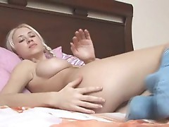 Insane pigtailed blonde chick teasing
