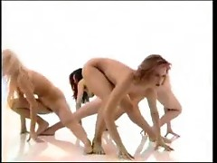 Nude chicks doing aerobics