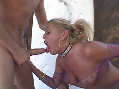 He fucks her throat and gets messy