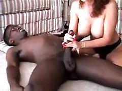 Hot milf redhead loves black cock