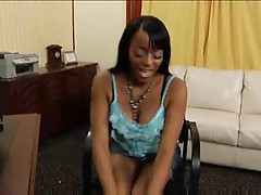 Black chick and black dick in fun scene