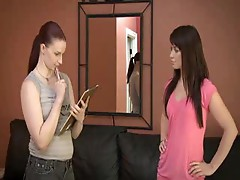 Redheaded lesbian is in charge and loves strapon sex