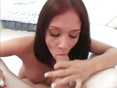 Smoking hot Tory Lane wraps her lips round a huge prick