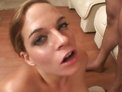 Crissy Cums get hot cum from mini cock of chubby guy