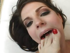 Bobbi Starr and Sasha Grey licking of clean toes