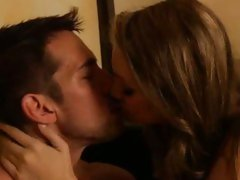 Jessie Andrew hot babe kissing with horny guy