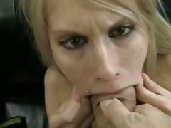Rocco Siffredi let a hot babe suck deep her cock