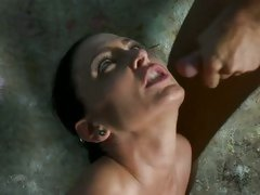 Jessica Jaymes splattered with cumshot on her face