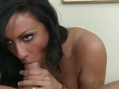 Peter North And Tiffany Brookes doing a hard blowjob
