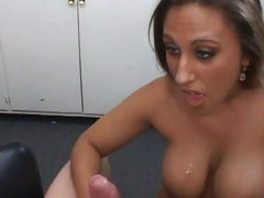 Alisandra Monroe brunette babe get cum filled
