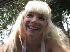 Heidi Mayne hot blonde babe picked up by black guy