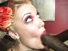 Candy Monroe doing a hot cock sucking for her guy