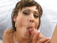 Stephanie Tripp's slutty mouth filled with spunk