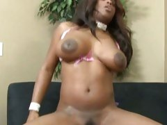 Jade Fire rides and nails pussy down huge black meat