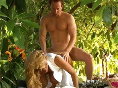 Busty babe Kelly Madison enjoys a hard pussy pounding