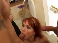 Filthy Katja Kassin gets her mouth crammed with cock