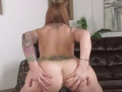 Scarlett Pain bounces her snatch on a big dick